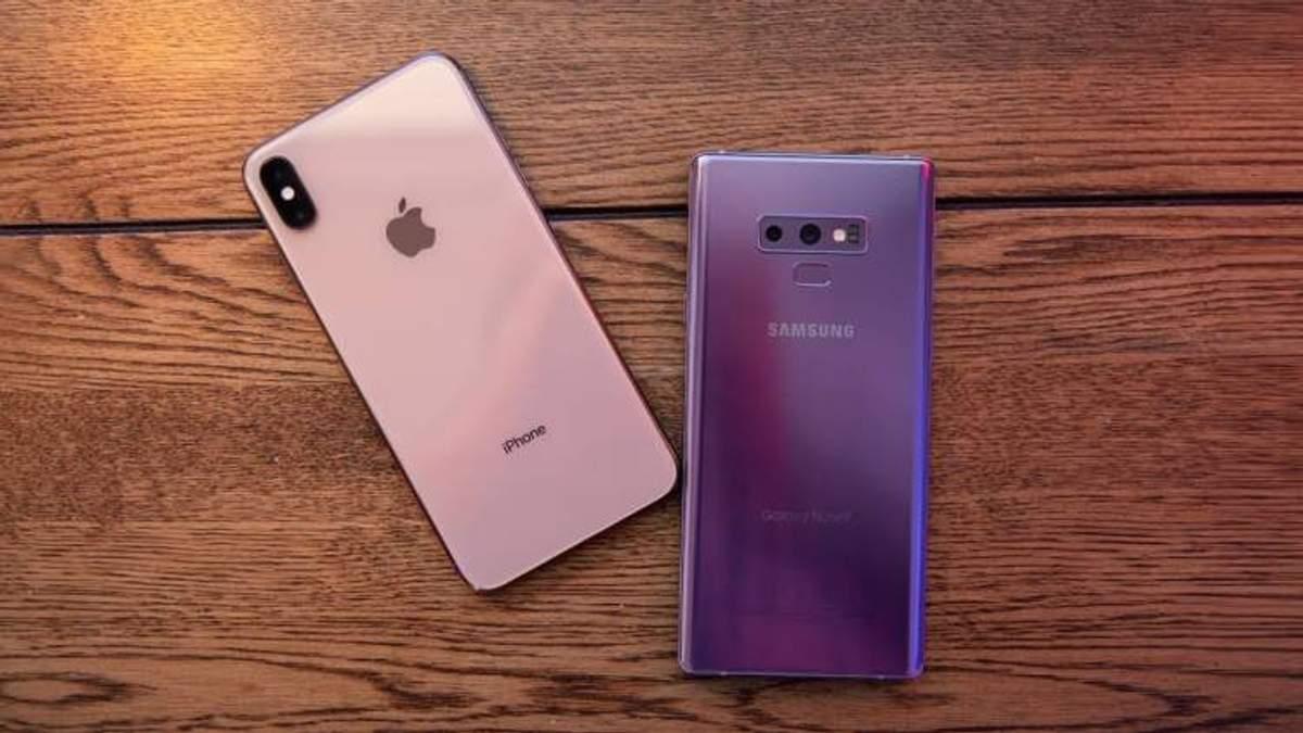 Samsung Galaxy Note 9 чи iPhone Xs Max