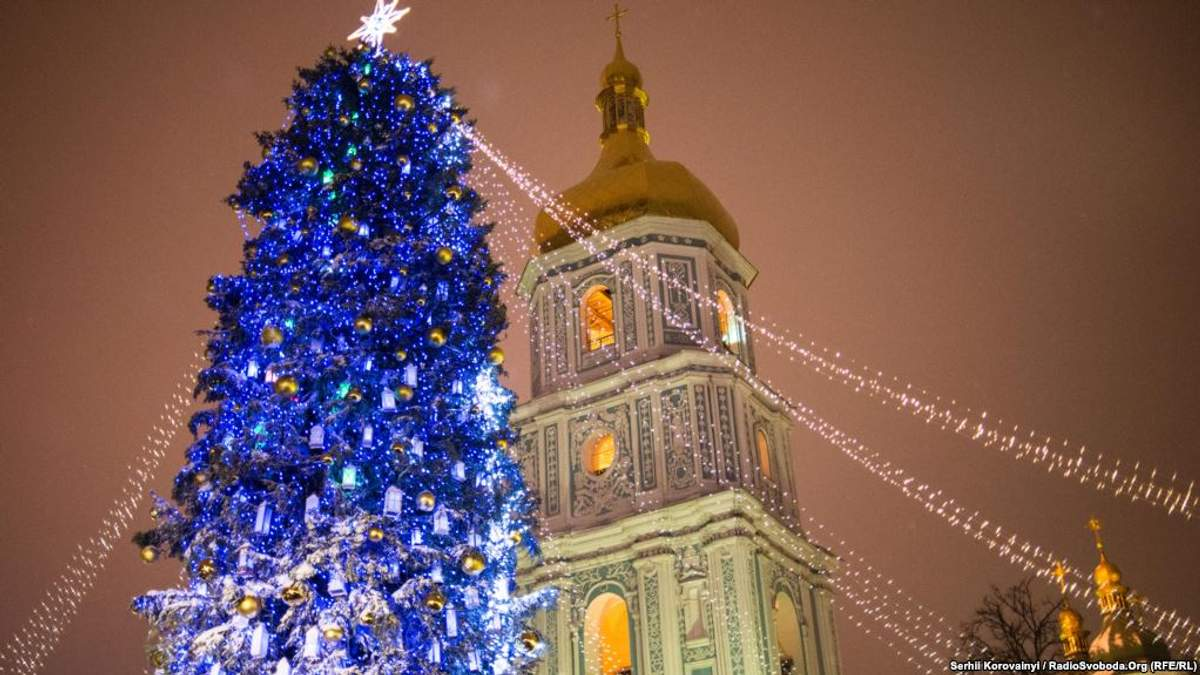 Погода в Украине в новогоднюю ночь 2019