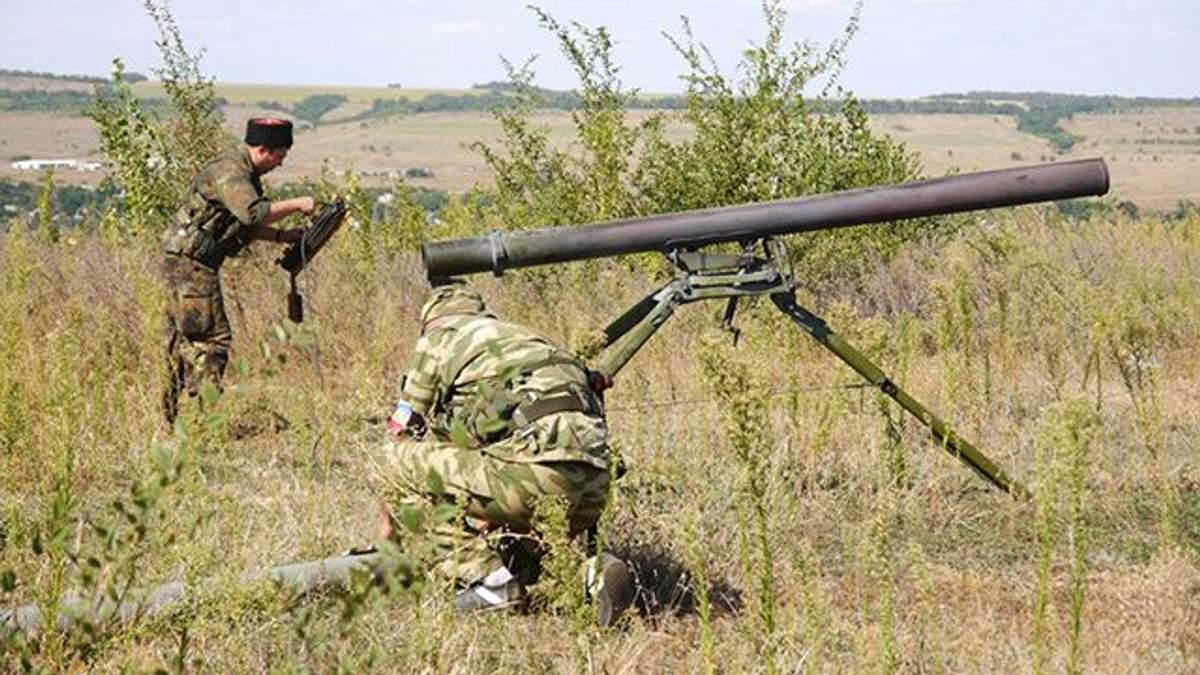 Проросійські бойовики обстріляли власні позиції на Донбасі: момент зняли на відео