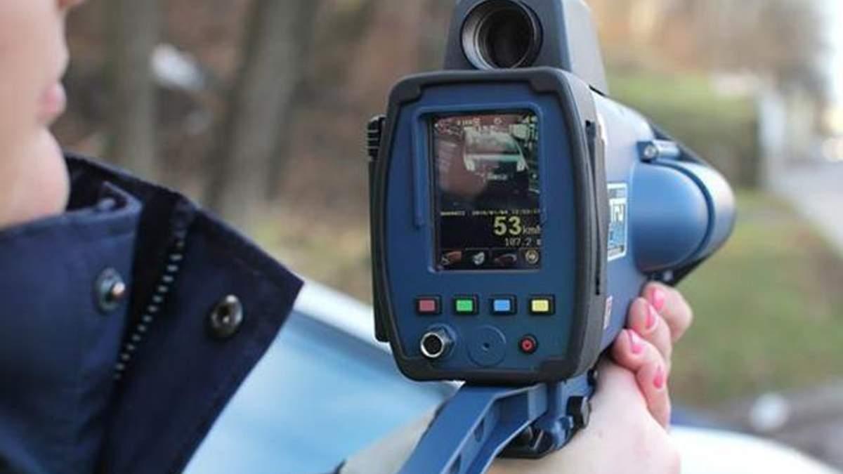 Поліція почне вимірювати швидкість на дорогах пристроями TruCam