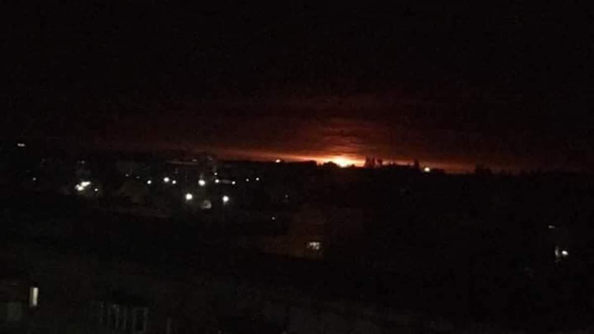 Взрывы в Ичне: видео, фото взрывов на складах с боеприпасами
