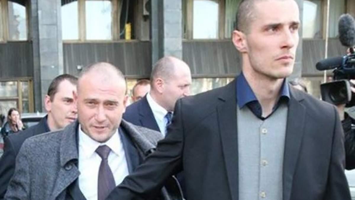 Український політв'язень Олександр Шумков праворуч