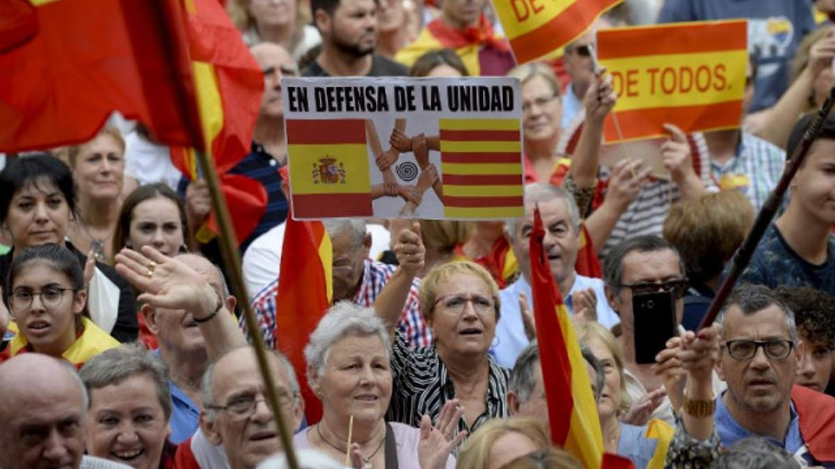Марш единства в Барселоне