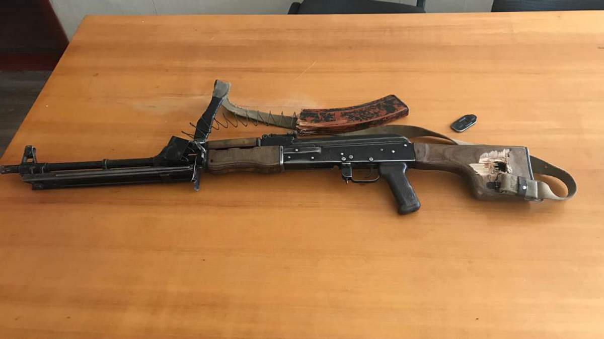 Бой под Авдеевкой: оккупанты не только потеряли своих боевиков, но и оставили на поле боя свой пулемет РПК