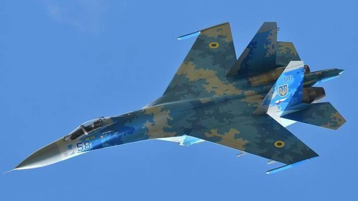 После падения от самолета Су-27 остался только кусок металла