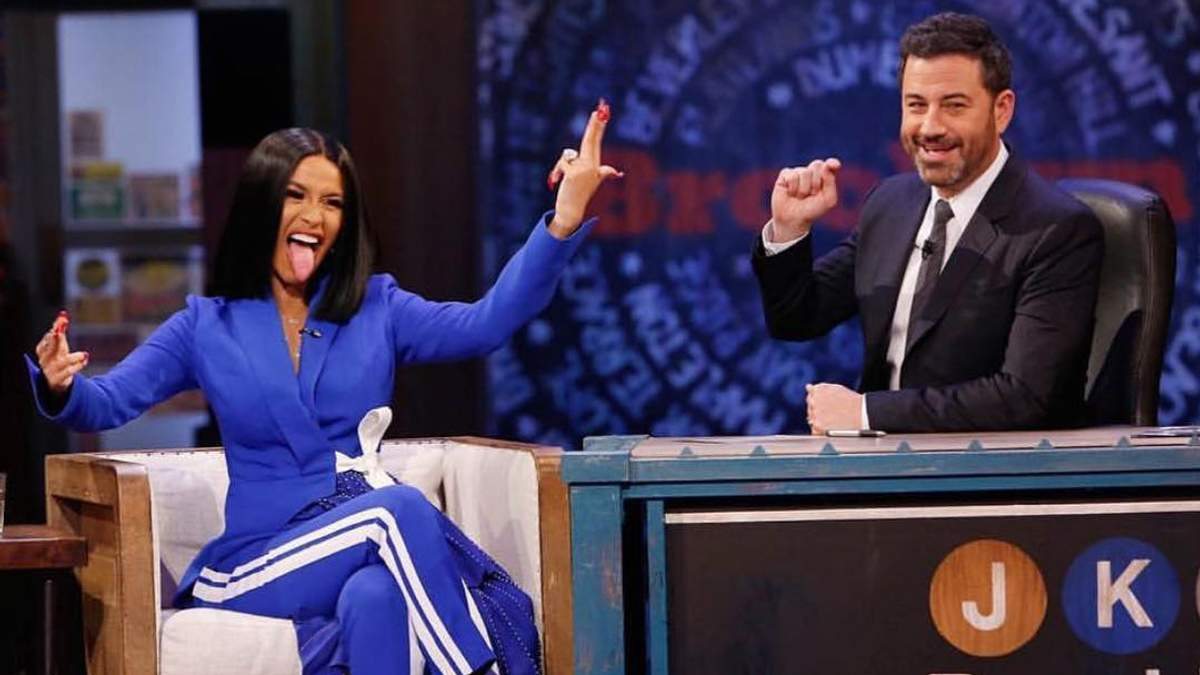 Cardi B на Jimmy Kimmel Live!