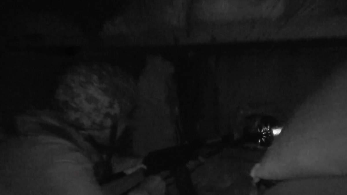 Нічний бій у Пісках: промовисте відео