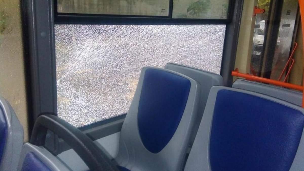 У Дніпрі невідомі з пневматики обстріляли тролейбуси: фото