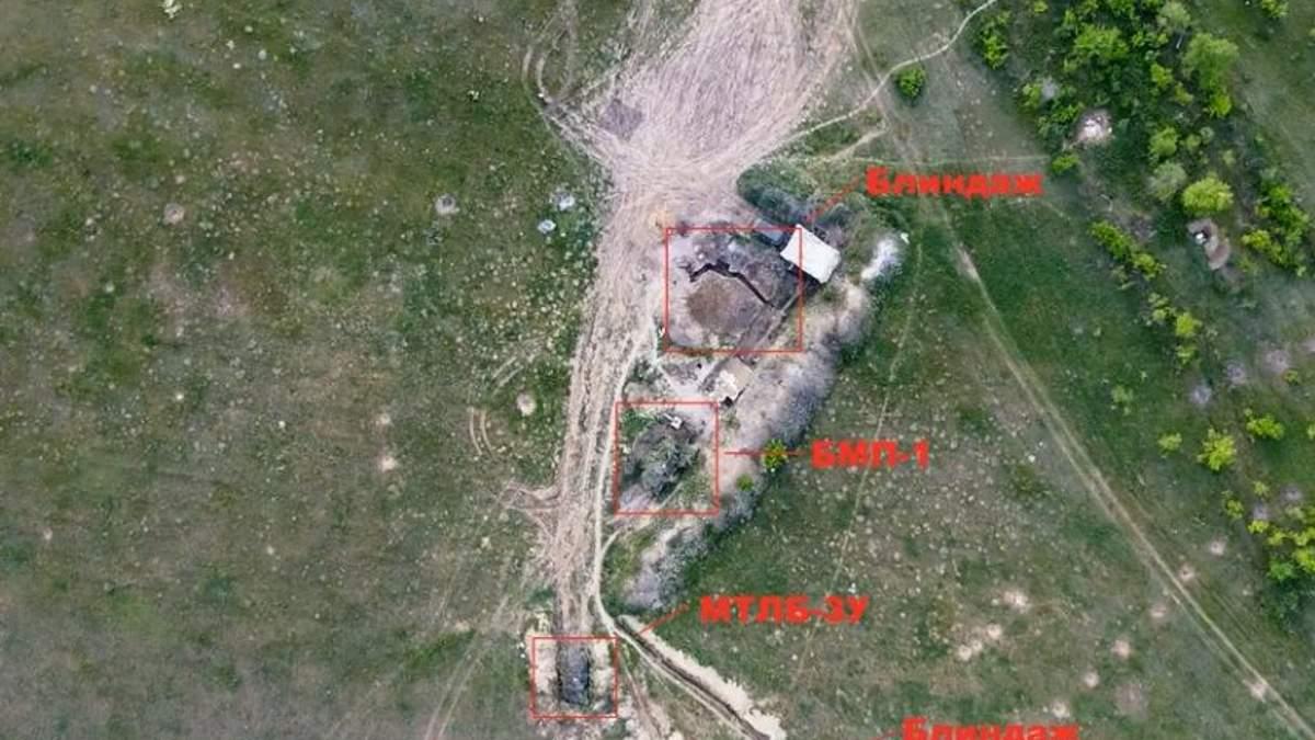 Украинские военные уничтожили технику боевиков