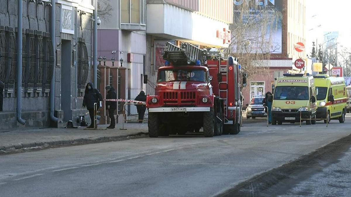 Фото з місця підриву будівлі ФСБ в Архангельську