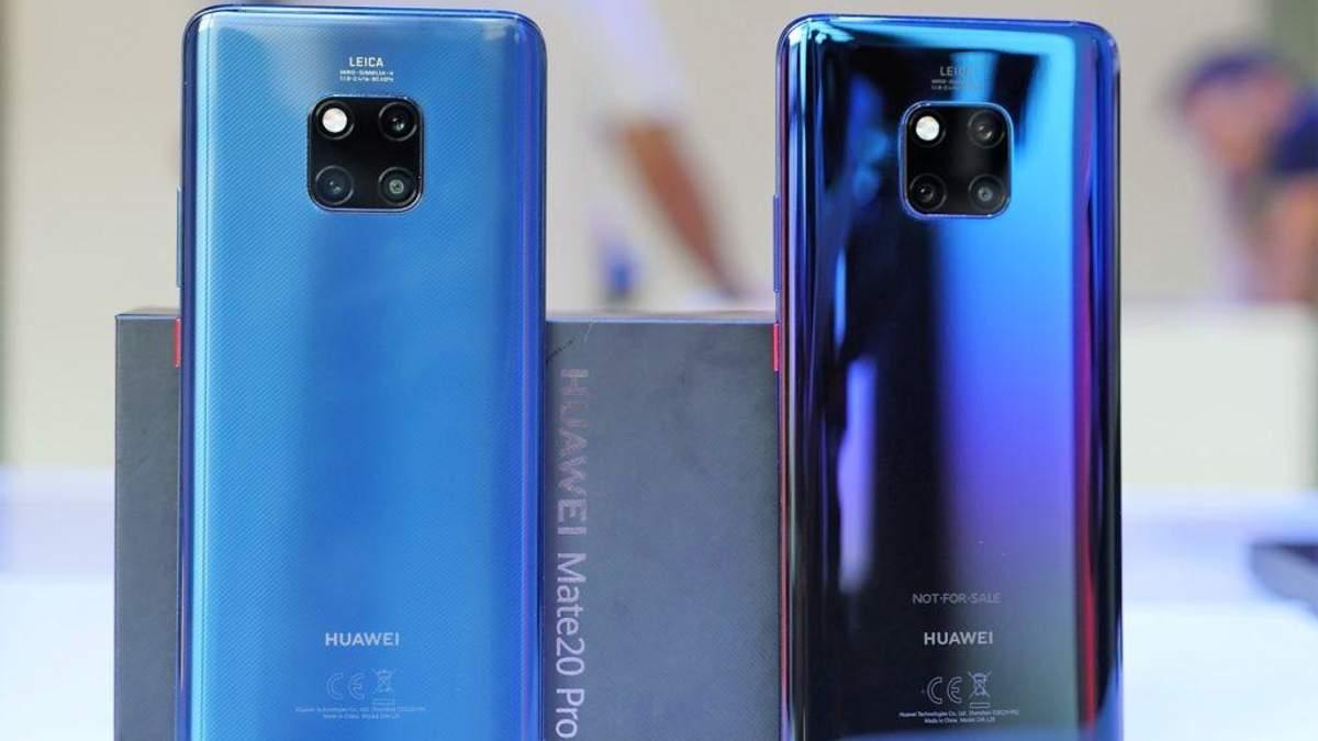Рейтинг очолив Huawei Mate 20