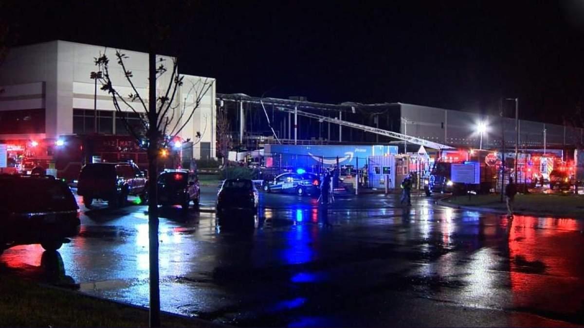В Балтиморе обрушилось здание Amazon