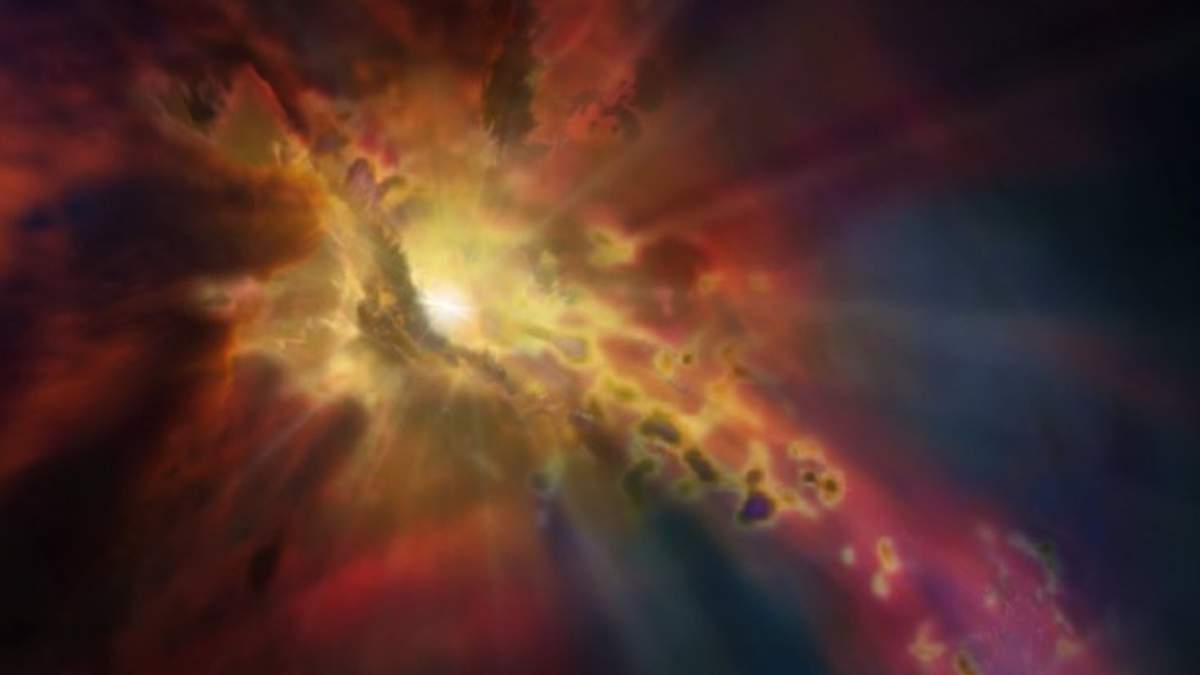 В космосе заметили галактику-фонтан