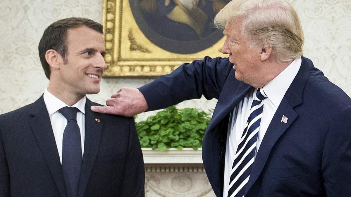 Трамп жорстко розкритикував пропозицію Макрона створити спільну європейську армію