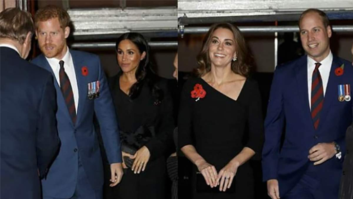 Кейт Міддлтон та принц Вільям, Меган Маркл та принц Гаррі