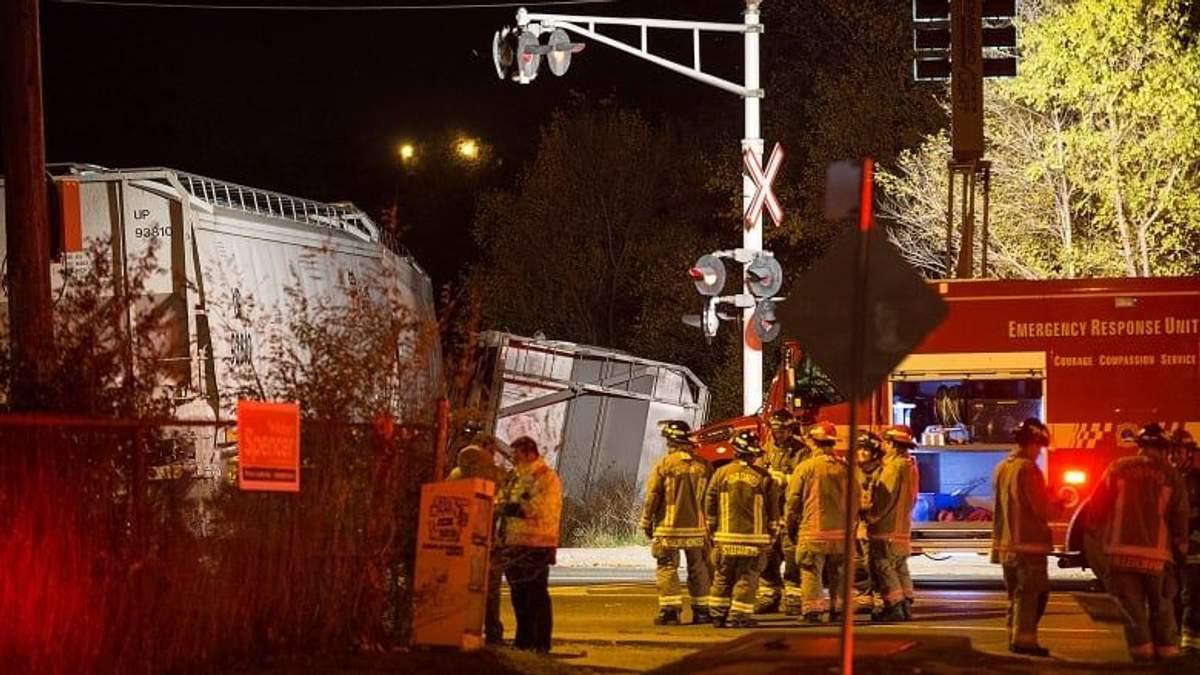 У Торонто зійшов з колії потяг, що перевозив хімікати