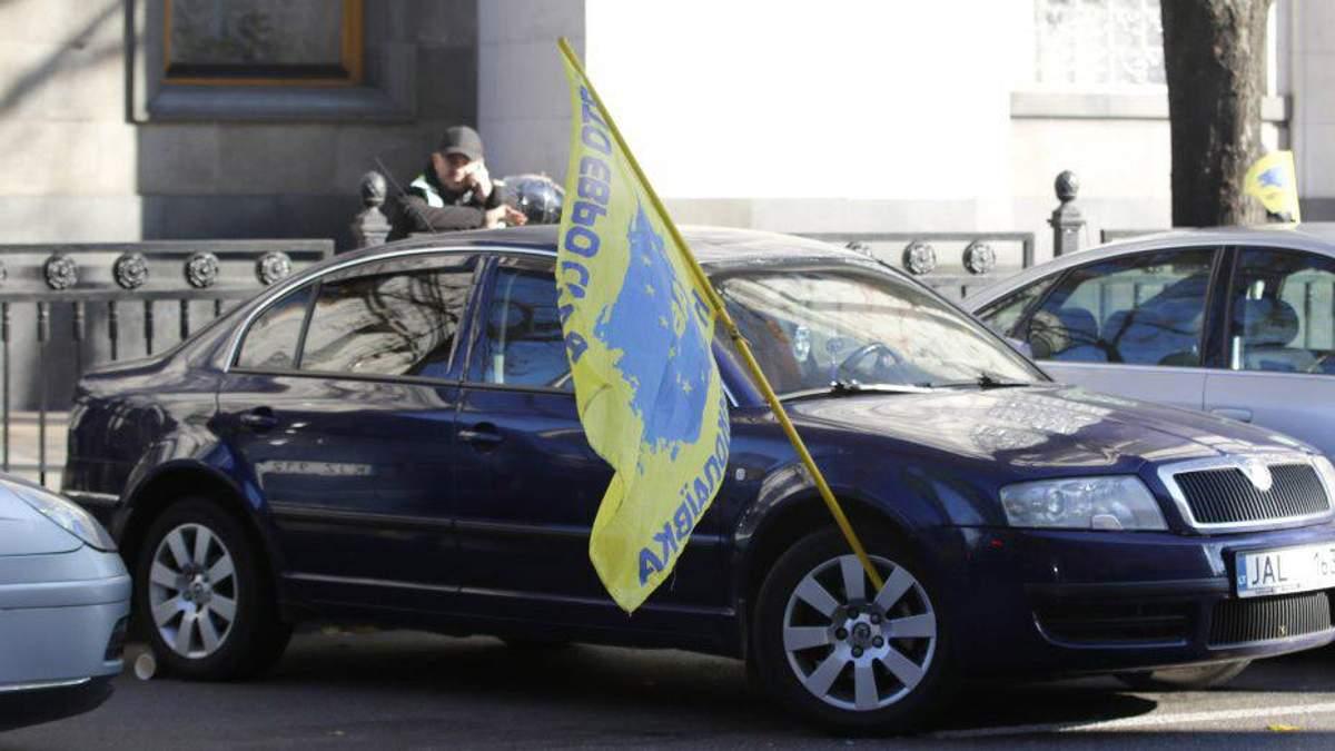 """Владельцы """"євроблях"""" объявили всеукраинскую бессрочную акцию протеста"""