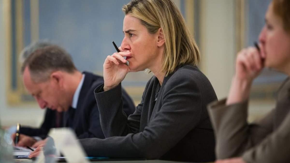 Могеріні заявила, що ЄС готує заходи через дії РФ в Азовському морі