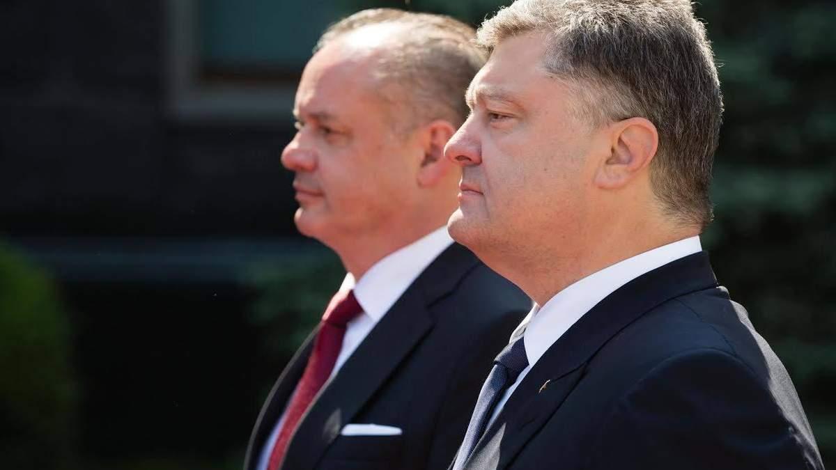 Порошенко провел переговоры с президентом Словакии Киской: детали