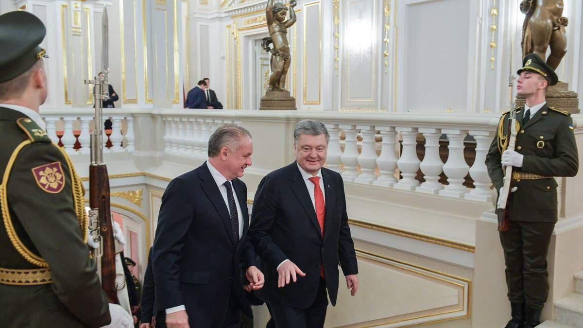Порошенко вместе с президентом Словакии Андреем Киской