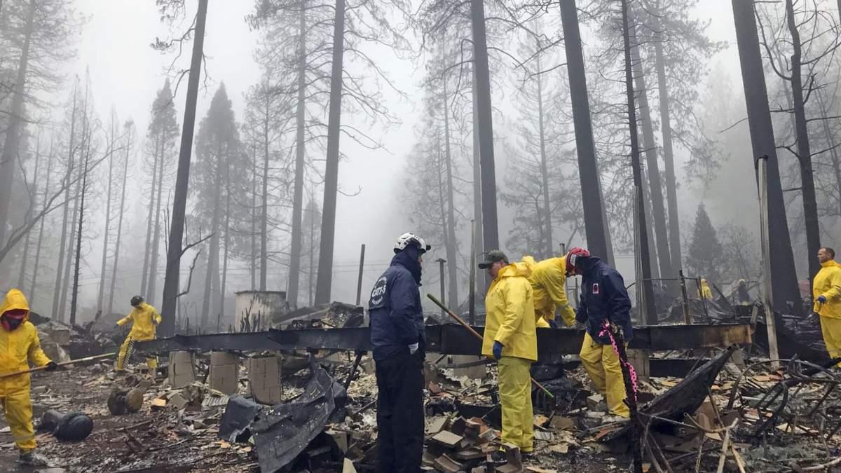 Масштабні пожежі у Каліфорнії: понад 400 осіб залишаються зниклими безвісти