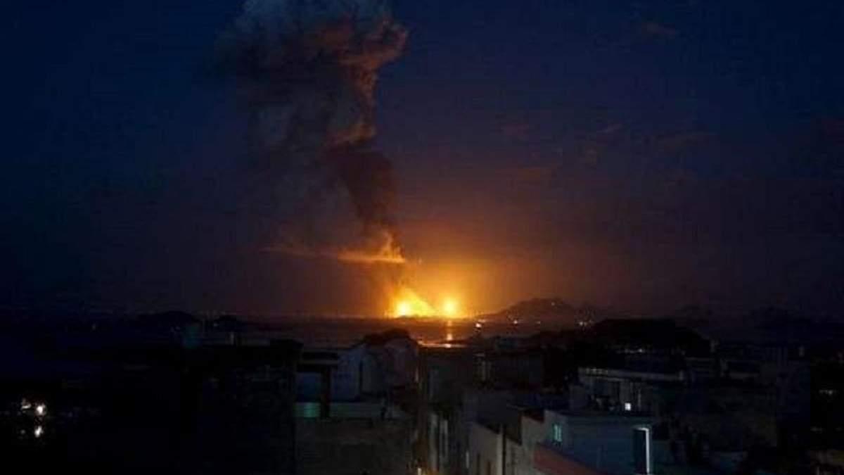 Взрывы на химическом заводе в Китае