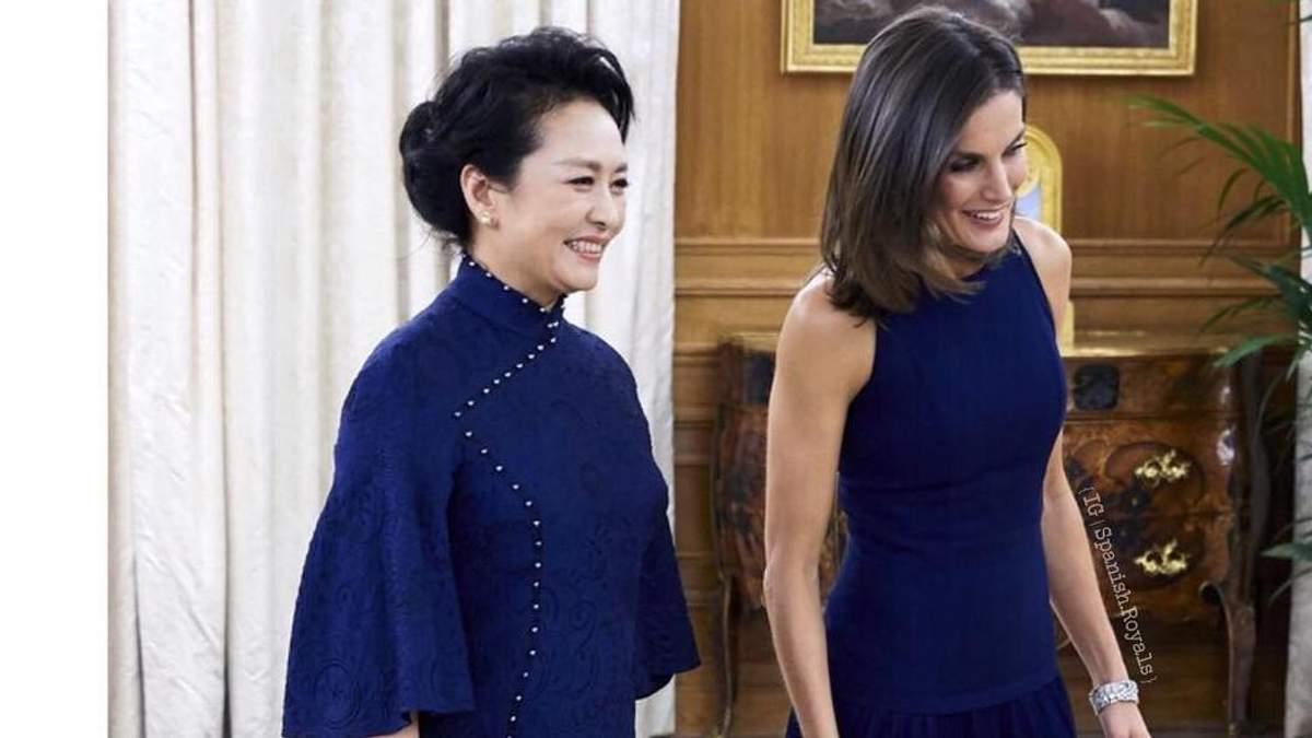 Королева Летиция и первая леди Китая Пэн Лиюань