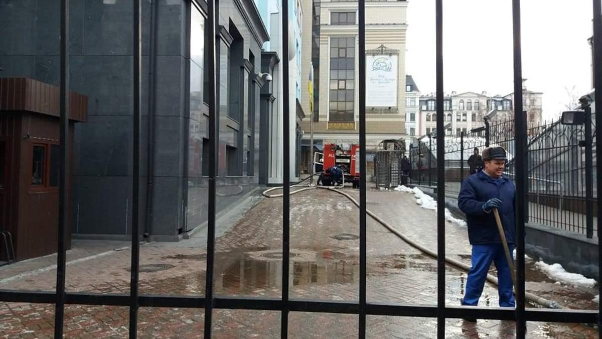 В здании Минфина в Киеве вспыхнул пожар