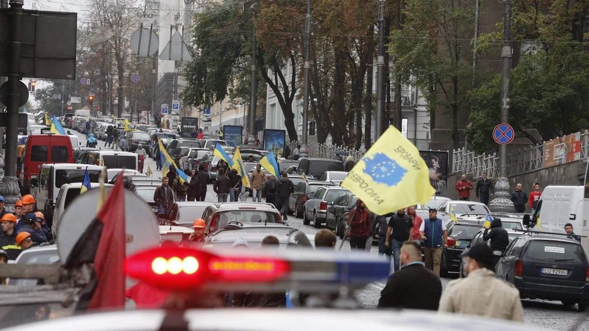 В ГФС озвучили потери бюджета из-за протестов водителей авто на еврономерах