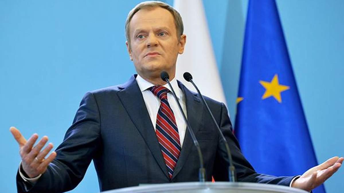 Туск анонсував продовження санкцій ЄС проти Росії