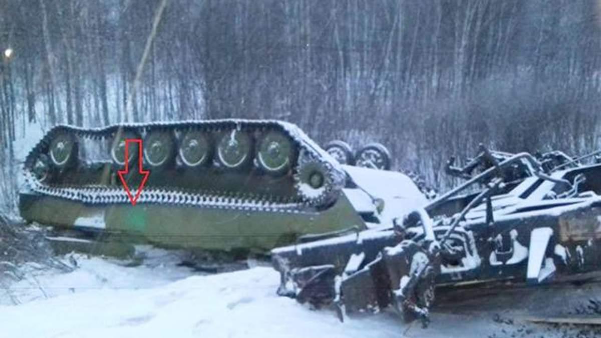 Авария военного эшелона в Омской области России