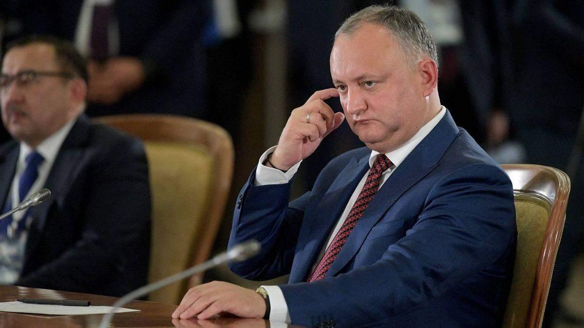 Президента Молдови планують відсторонити від посади вп'яте