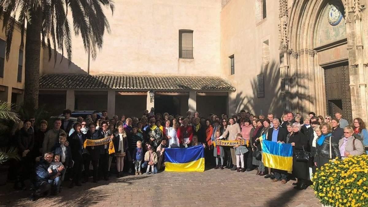 У кількох містах Іспанії пройшли акції на підтримку українських моряків