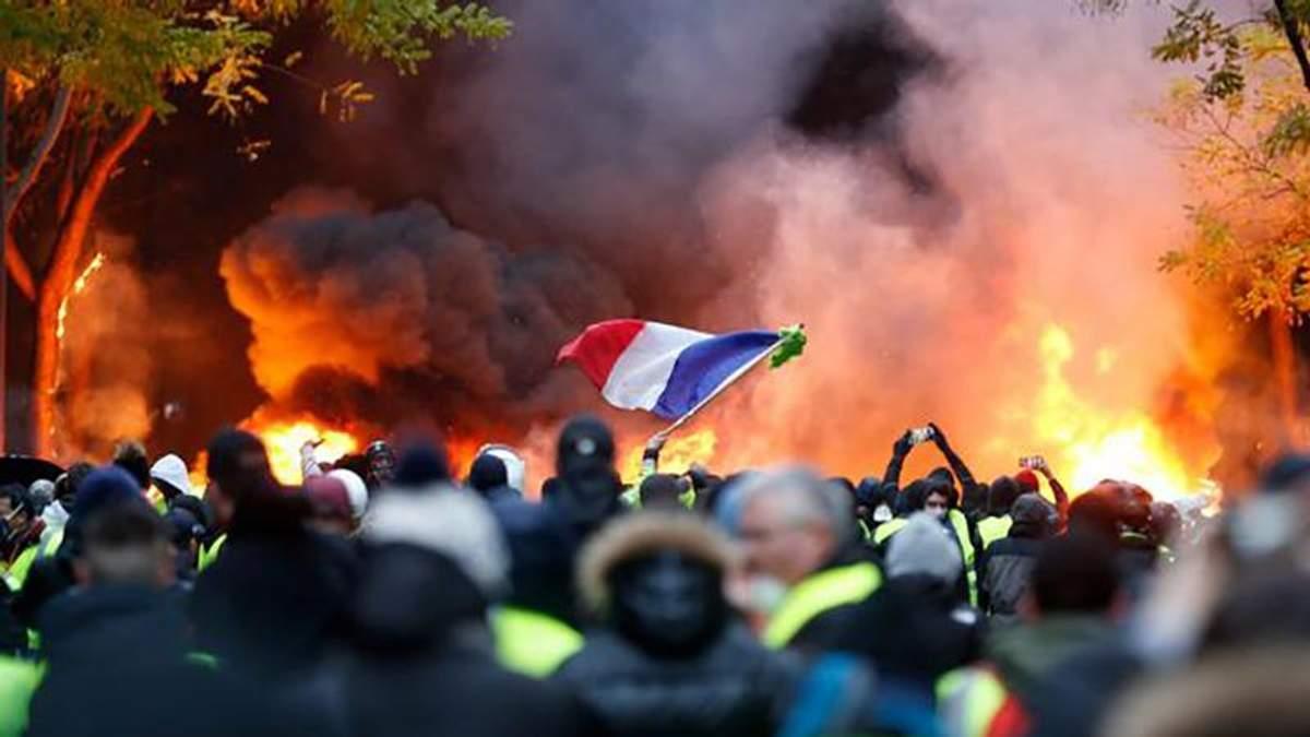 """Протести """"жовтих жителів"""" у Франції"""