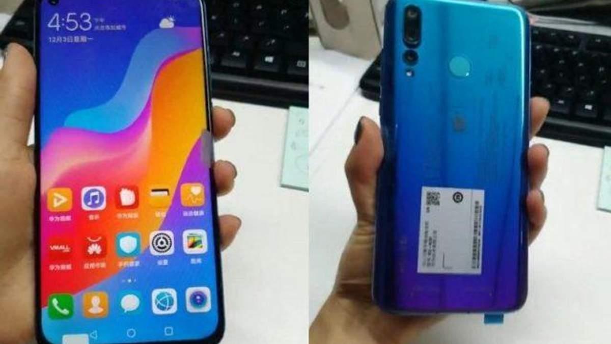 Смартфон Huawei Nova 4 з дірявим екраном: фото