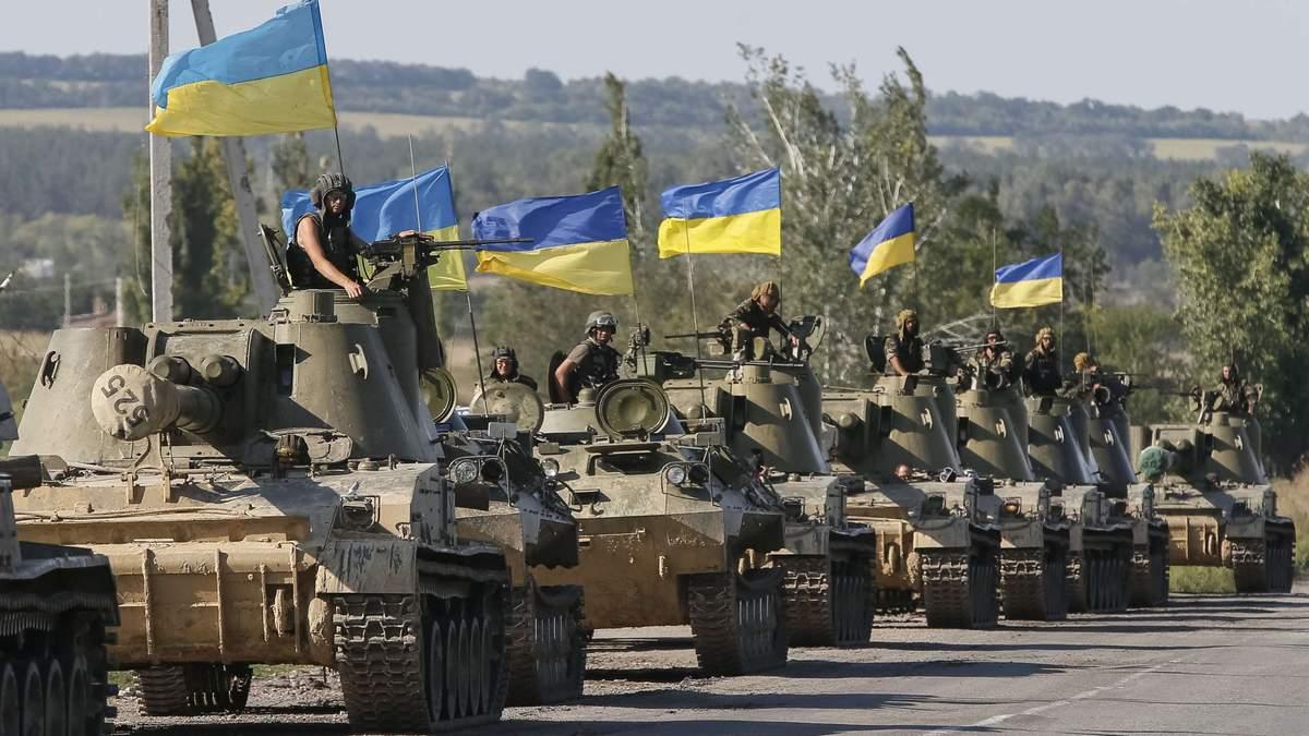 В окупованому Луганську з'явились жовто-блакитні вітання до Дня Збройних сил України