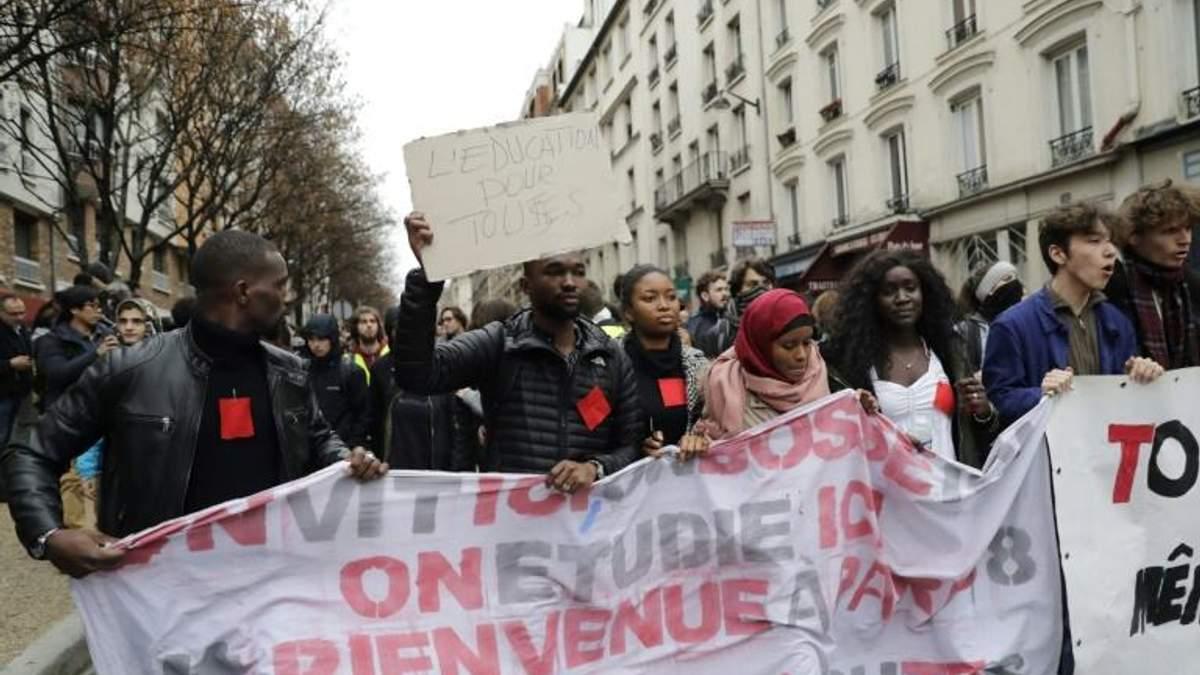Школьники и студенты устроили протесты во Франции