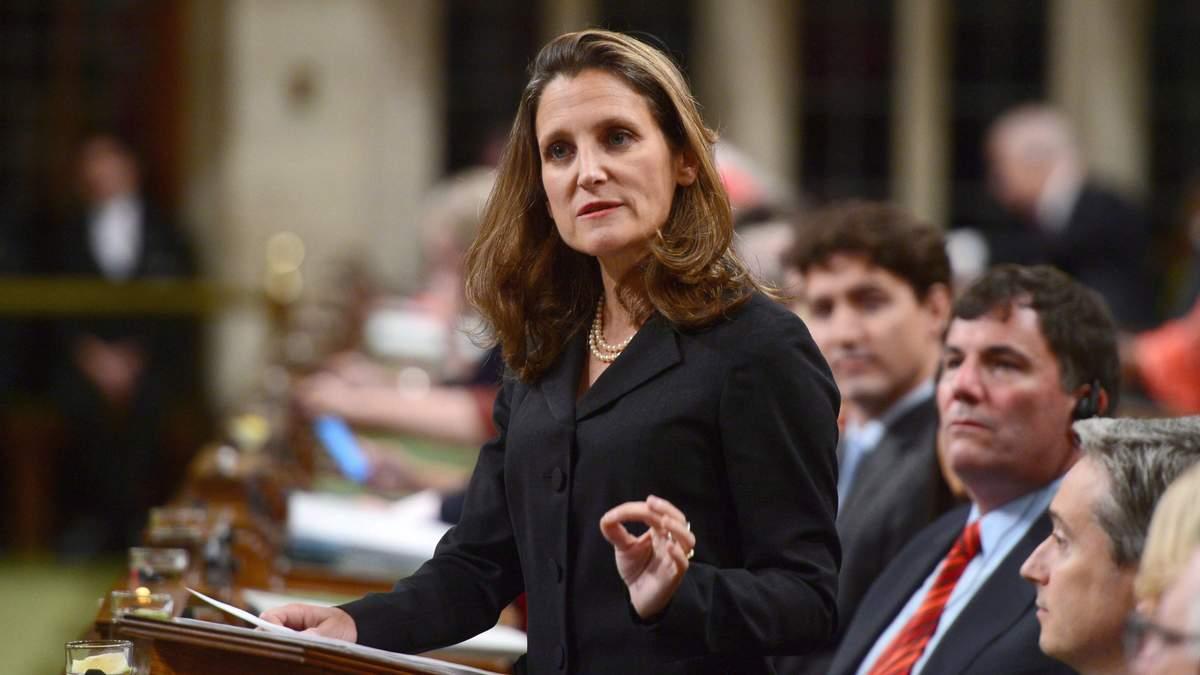 Міністр закордонних справ Канади Христя Фріланд