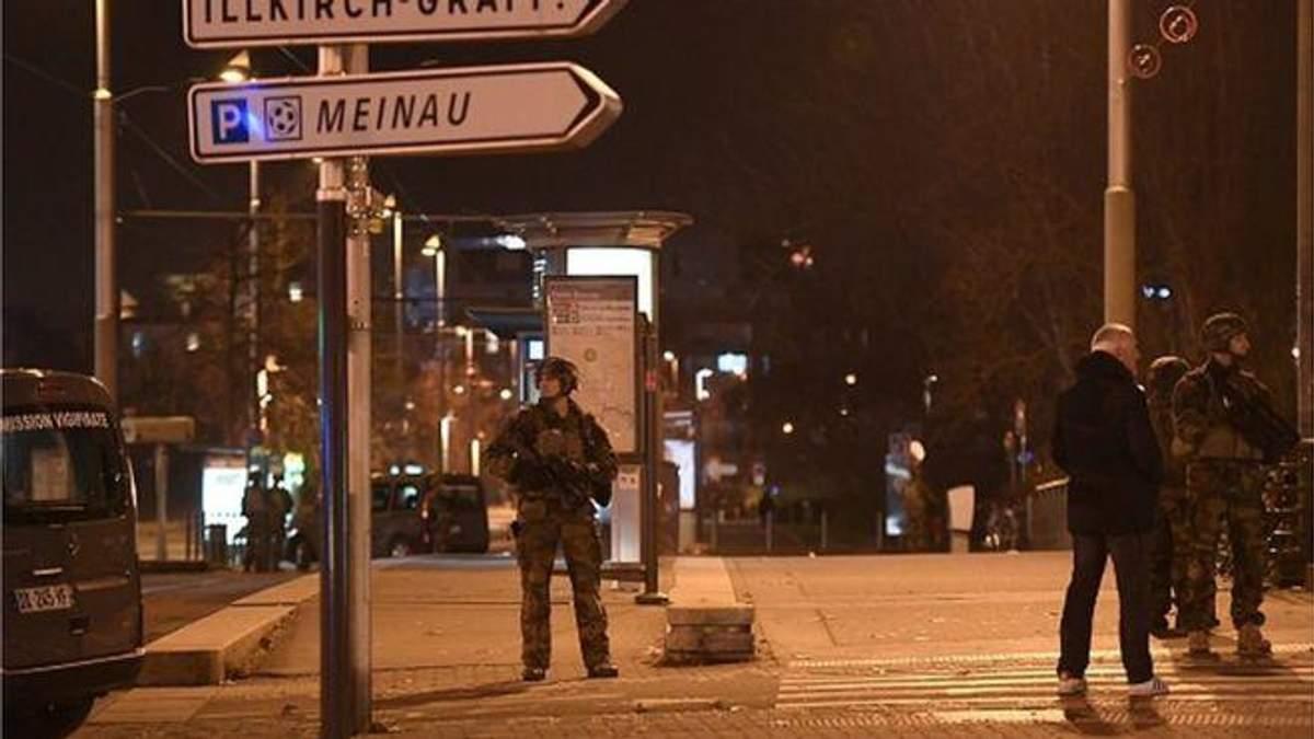 Центр Страсбурга оцеплен вооруженными полицейскими