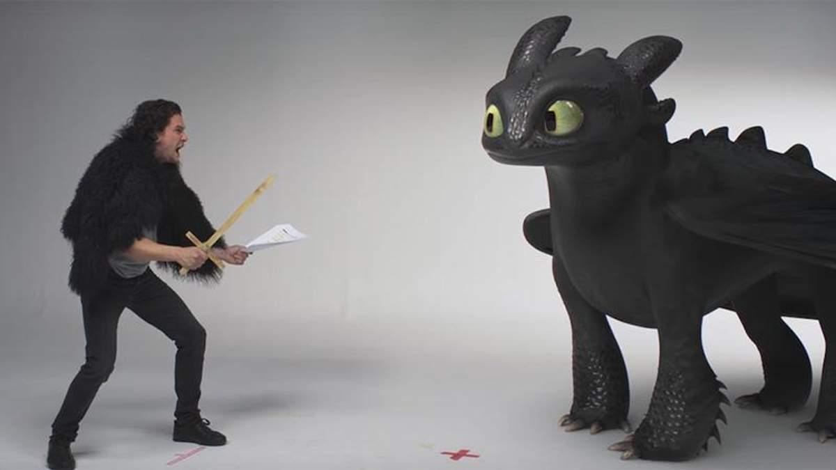 """""""Как приручить дракона 3: Скрытый мир"""": Кит Харингтон укрощал Беззубика"""