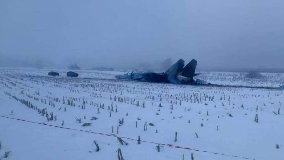Падіння Су-27 на Житомирщині: з'явились фото катастрофи винищувача