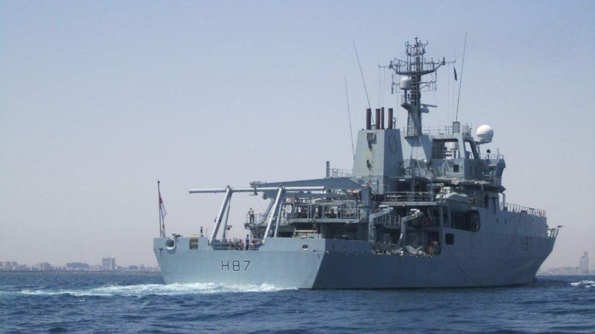 Появились первые фото корабля НАТО в порту Одессы