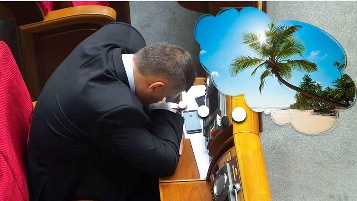 Мечты о наступающих каникулах мешают депутатам сосредоточиться