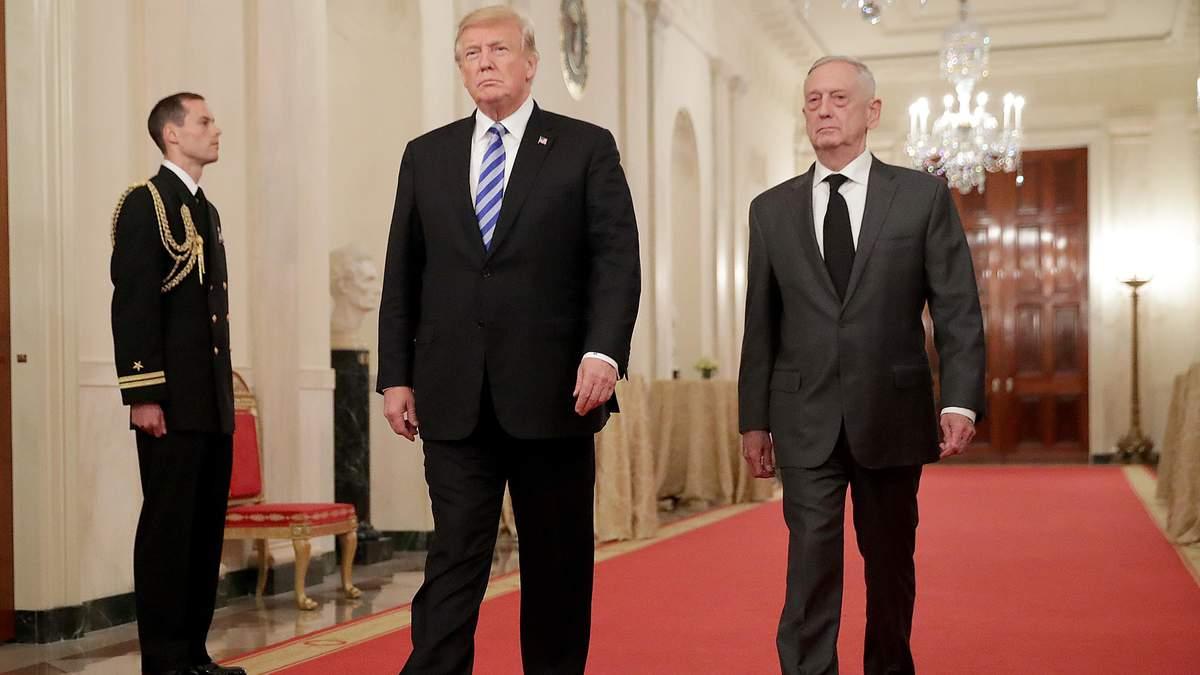 Президент США Дональд Трамп заявив, що наприкінці лютого 2019 року голова Пентагону Меттіс піде на пенсію