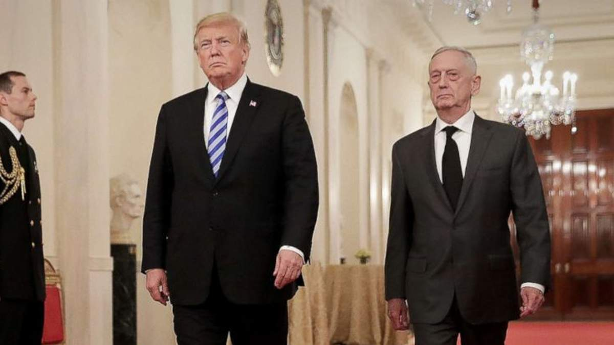 Трамп отправил главу Пентагона Мэттиса на пенсию