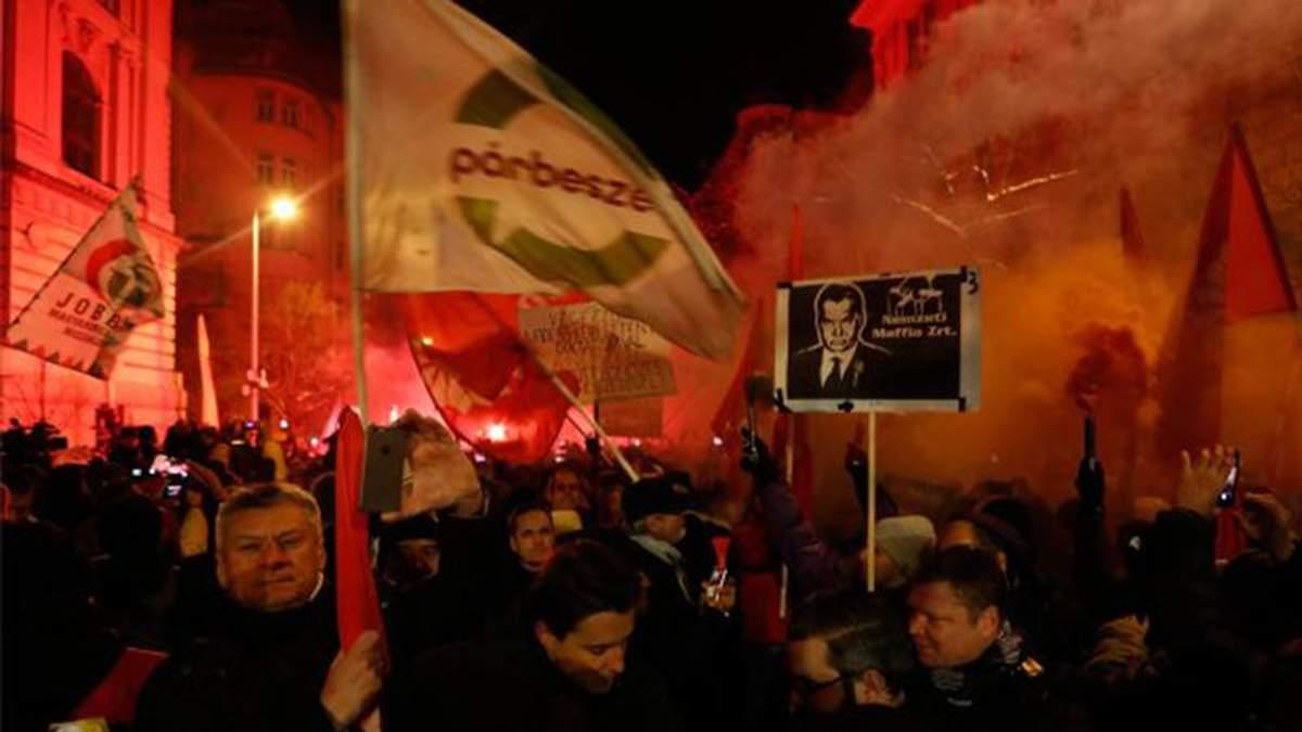 В Угорщині тривають антиурядові протести