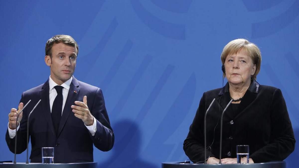 Ангела Меркель та Еммануель Макрон