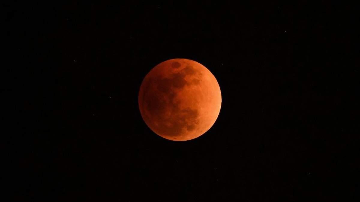 Лунное затмение  21 января 2019 Украина - время лунного затмения