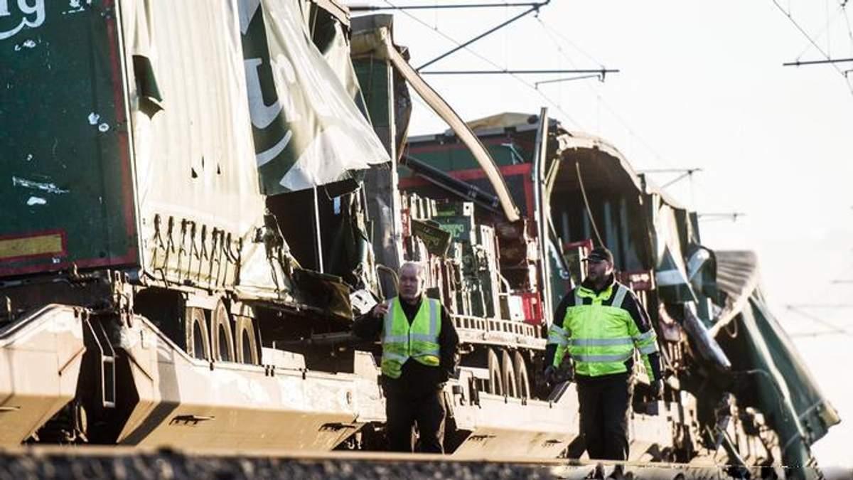 Авария на железной дороге в Дании