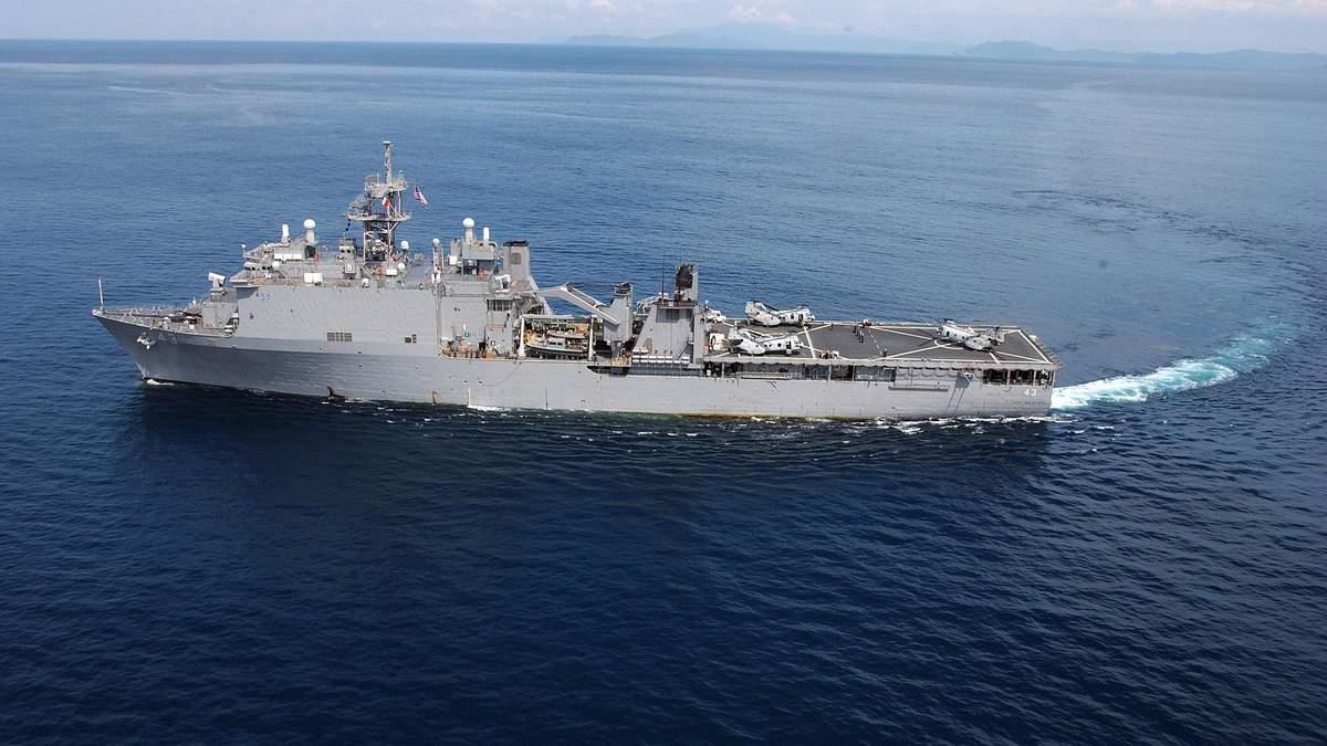 В Черное море идет десантный корабль морской пехоты США: фото